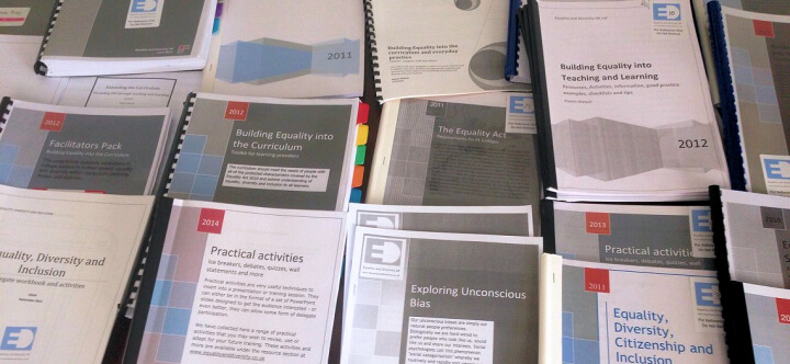 equality and diversity resournces and activities
