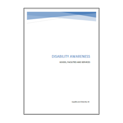 Disability in Goods, Services and Facilities Booklet