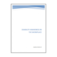 Disability Awareness in the Workplace Booklet